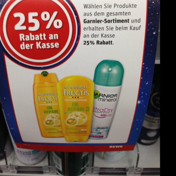 [REWE] 25% auf Garnier -Produkte und 20% auf Nivea -Produkte
