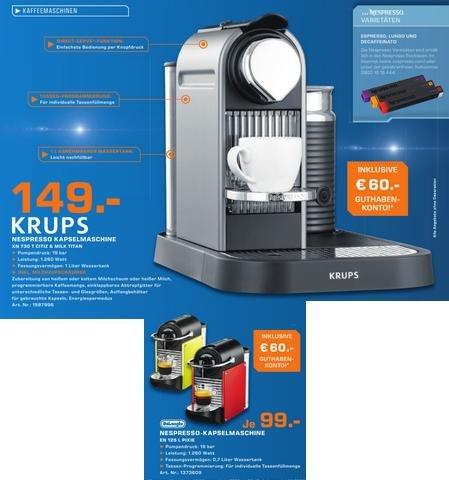 Nespresso citiz & milk in titangrau für 149€  inkl. 60€ Guthaben