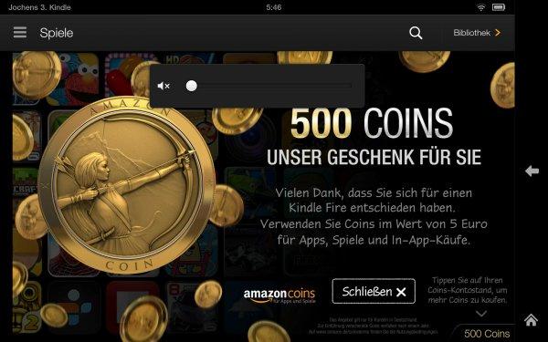 500 Amazon Coins für jeden Kindle Fire Besitzer