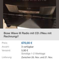Bose Wave Music System Serie III