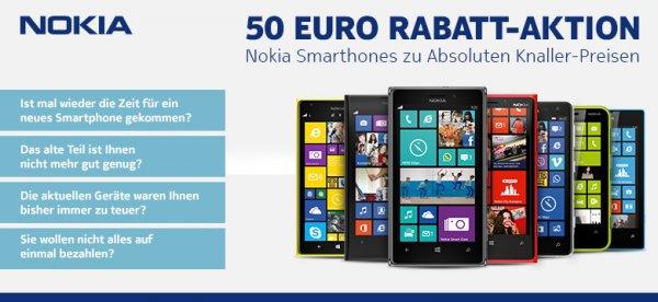 50€ Rabatt auf Nokia Smartphones (nur bei 0%-Finanzierung) @notebooksbilliger.de