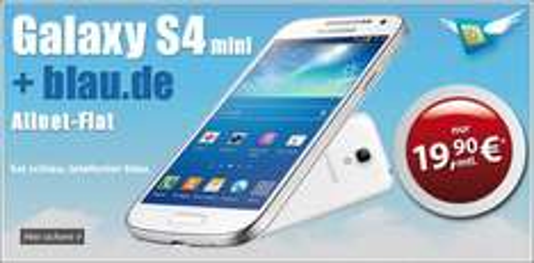 Gratis Galaxy S4 mini zur Blau Allnet + Internetflat bei Mobildiscounter