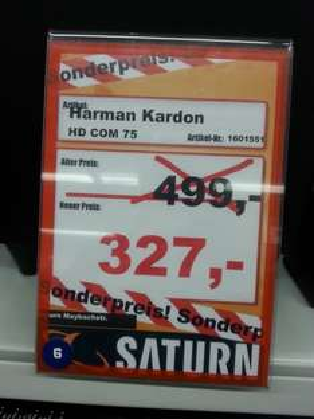Harman Kardon HD COM 75 Saturn am Hansaring Köln