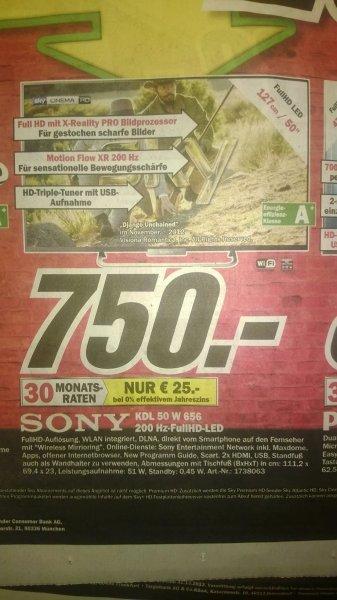 """Sony KDL-50W656 Full HD LED 200 Hz 50"""" bei MM Schweinfurt für 750 € OHNE 3D"""