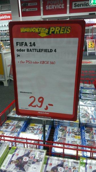 [Lokal] MM Hamburg Halstenbek - Battlefield 4 & FIFA 14 - Xbox 360 & PS 3 - 29€