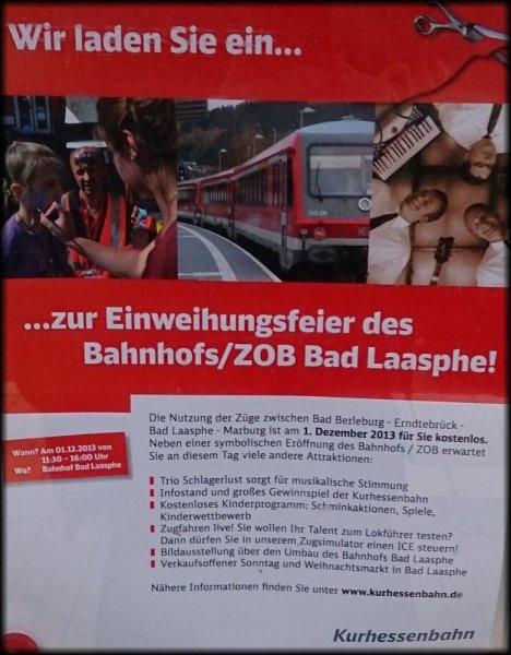 Am 1.12. kostenlos mit der Bahn zwischen Marburg und Bad Berleburg