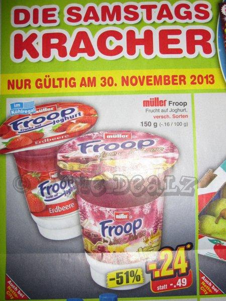 [Netto Marken-Discount] Müller Froop Joghurt 150g Becher vers. Sorten für 0,24 € - am Samstag 30.11.2013