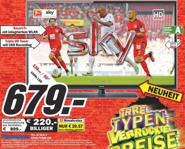Panasonic TV TX-L50BLW6 679€ Lokal[Mediamarkt Dortmund-Oespel]