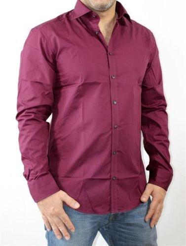 ebay: SLIMFIT Business Hemd weinrot in Größen S,M,L für 4,99