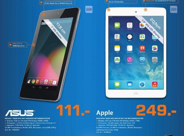 [Saturn Chemnitz ]  Nexus 7 16GB  111€  /   Apple  iPad mini  249€