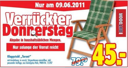 """Nur am 09.06. bei Praktiker: Klappstuhl """"Torent"""""""