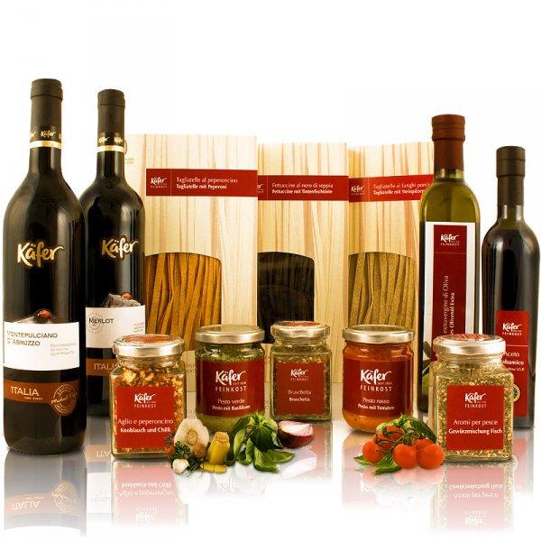 FEINKOST KÄFER PASTA GOURMETPAKET ITALIEN Wein, Pesto...  eBay WoW