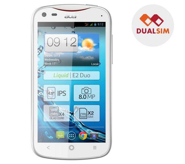 Liquid E2 Duo - weiß - Smartphone Dual SIM