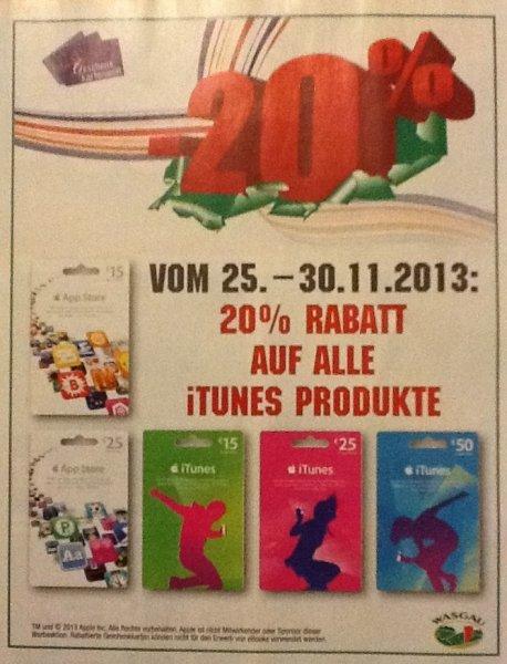 Wasgau - 20% auf iTunes Guthabenkarten