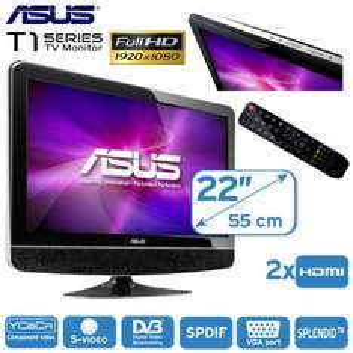 Asus 22T1E 21.5 Zoll Full HD LCD-Monitor und TV mit 5ms, 20.000:1, HDMI