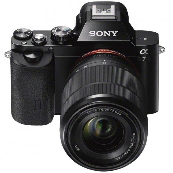 Sony Alpha a7 Kit 28-70 mm (ILCE-7K) Vollformat-Systemkamera für 1527,33 € @Amazon.fr