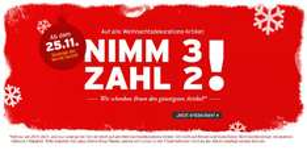 Nimm 3 zahl 2 bei Ernsting's family.de auf Weihnachtsdekoartikel + Qipu 8% *Nur noch heute!*