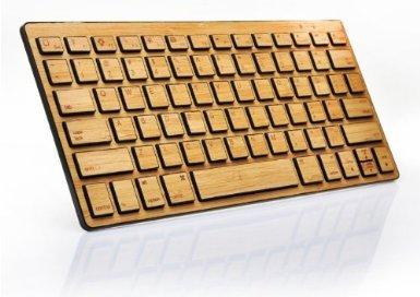 Handmade Handarbeit Bambus Bluetooth Computertastaturen für iPhone/iPad/Apple/Windows PC/Adroid Smartphone