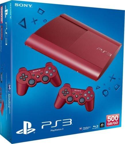 PS3 SUPER SLIM 500GB + 2 CONTROLLER RED für nur 239,- EUR inkl. Versand