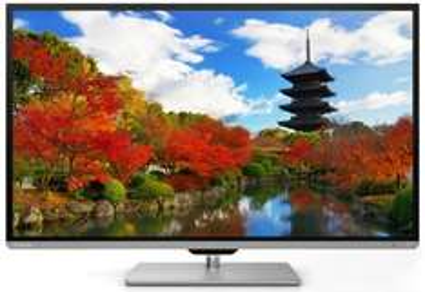 Toshiba 50L7333DG 126 cm (50 Zoll) 3D LED-Backlight-Fernseher, EEK A+ (Full-HD, 200Hz AMR, DVB-T/-C, CI+, WLAN, Smart TV, HbbTV) schwarz/silber