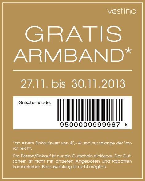 Gratis Armband bei Vestino ab 40 Euro Einkaufswert