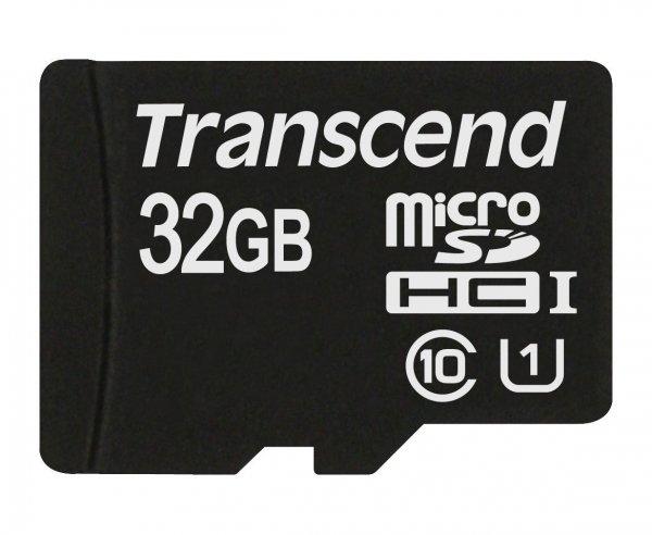 Transcend TS32GUSDCU1 Class 10 Premium microSDHC 32GB Speicherkarte UHS-I