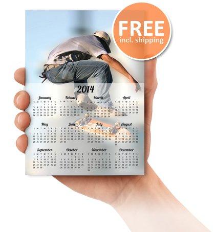 1 kostenloser Fotokalender @myvukee alternativ eine Postkarte 4 free
