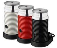 Nespresso AEROCCINO 3 Milchaufschäumer in Rot, Weiß oder Schwarz (ggfs. versandkostenfrei für 70,- €)
