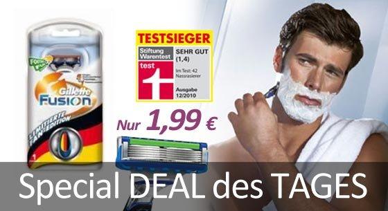 Gillete Fusion Rasierer für 1,99 €