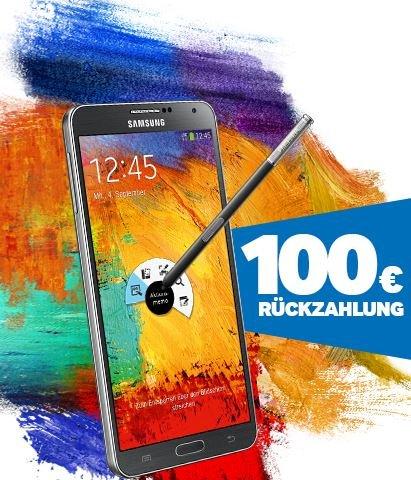 Samsung Galaxy Note 3 (32 GB schwarz oder weiß) mit All-Net- und Internetflat im Vodafone-Netz für rechnerisch 0,99 EUR im Monat (Cashback-Aktion verlängert bis zum 01.12.!)