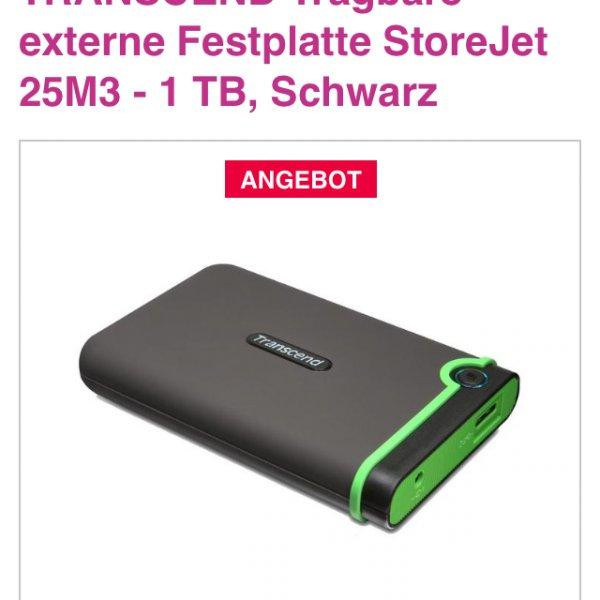 Transcend StoreJet 1TB