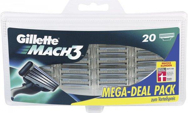 Cyber Monday - 20 Klingen Gillette MACH3 für 27,38€