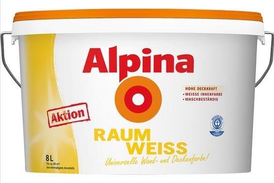 [Lokal - Leipzig] Alpina Raumweiss (nicht mit Katze) 8l bei OBI (auch Online zzgl. 4,95 Versand )