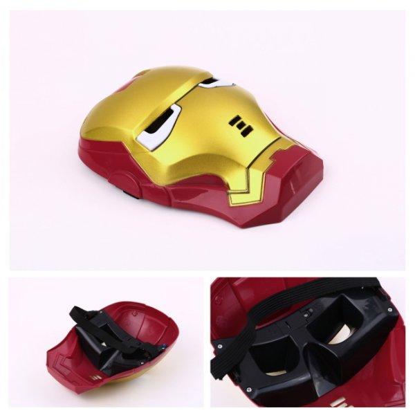 Iron Man Maske mit LED-beleuchteten Augen für 2,08 €  bei ebay