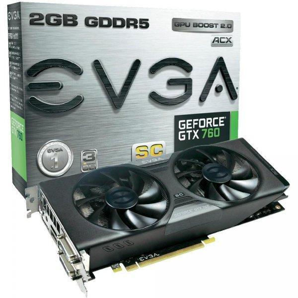 EVGA GTX760 Superclocked ACX Cooler 215€ @ Conrad