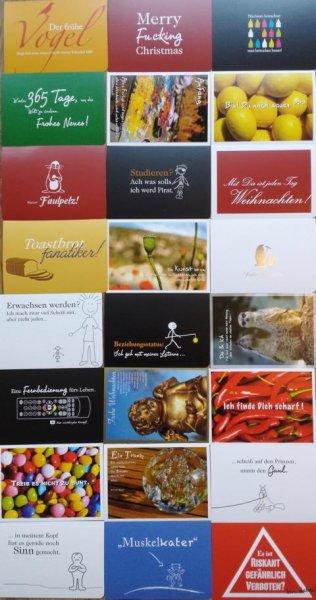 Adventskalender Aktion: 24 Postkarten + Adventskalender für nur 19 Euro inkl. Versand