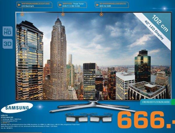 Samsung UE40F6640 SSX 666€ Lokal [Saturn Hanau]