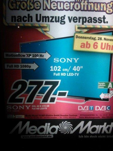 """[LOKAL] MM Dresden Galerie - Sony 40""""  KDL 40 R 470 AB"""