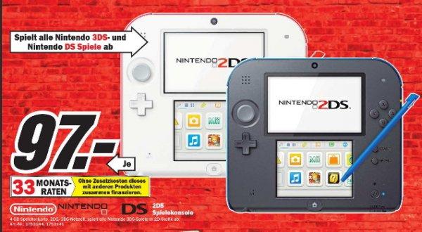 [ Media Markt Meerane ]  Nintendo 2DS 97€