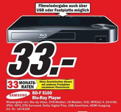 [MM Dresden ]   Samsung BD-F5100 Blu-ray Player  33€