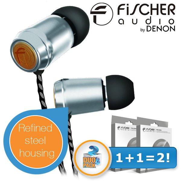 2x Fischer Audio Silver Bullet by Denon AUSVERKAUFT!