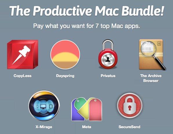 (MAC) Das Productive Mac Bundle mit 7 Apps zum selbst definierten Preis von Paddle