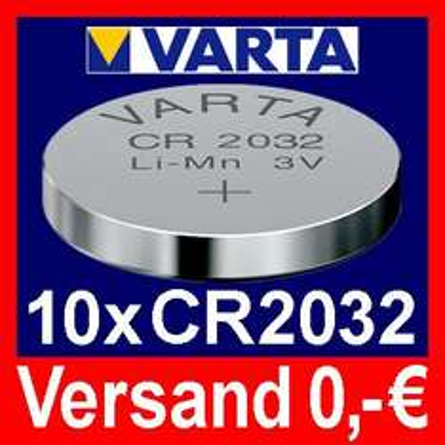 10 x CR2032  VARTA Lithium Knopfzelle
