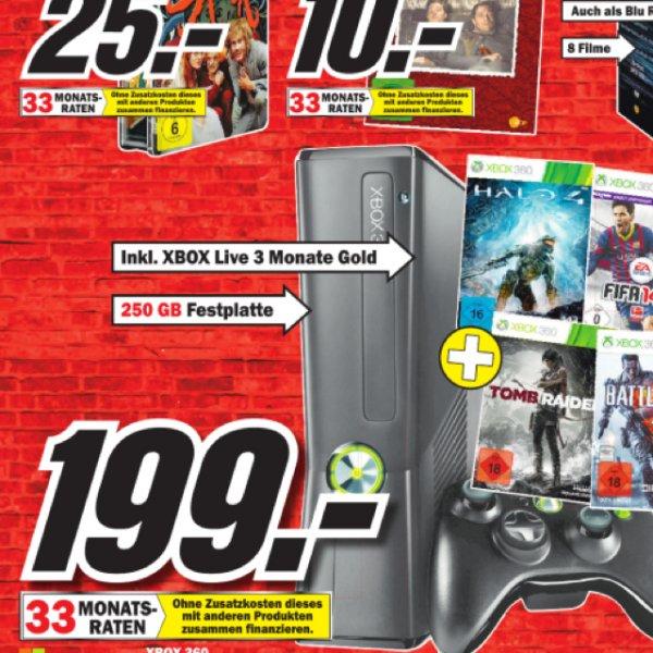 [Lokal DD] Mediamarkt Xbox 360 250 GB + 4 Spiele