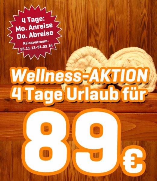 Eigenanreise - Wellness Kurzurlaub im Emsland, 3 Übernachtungen im Ferienhaus inkl. Frühstück, Spa-Eintritt und 1 x Peeling