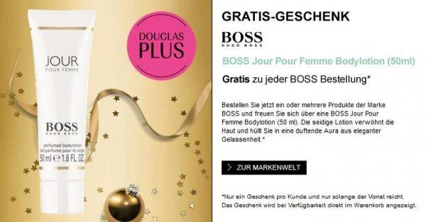 Gratis Jour Pour Femme Bodylotion zum Kauf eines Hugo Boss Produkts bei Douglas