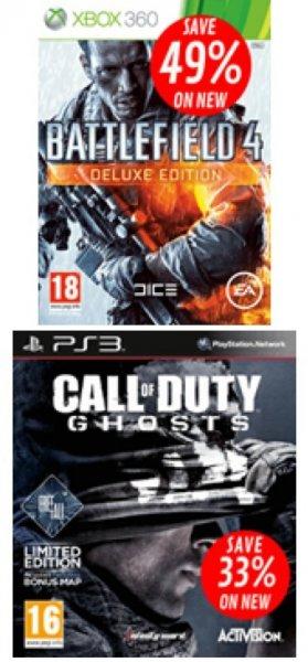 Black Friday bei GAME: u.a. Battlefield 4 Deluxe Edition (PS3/360) für 37,10 € inkl. Versand/ BF4 Standard mit China Rising DLC (nur 360) für 33,50 € inkl. Versand/ Call of Duty Ghosts Free Fall Edition  (PS3/360) für 39,49 € inkl. Versand