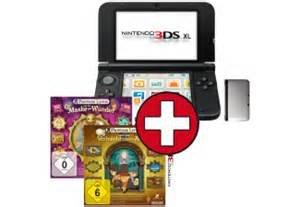 [Media-Markt] Nintendo 3DS XL in versch.Farben mit 2 Prof.Layton Spiele + Super Mario Land 3D als Download