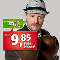 Klarmobil AllNet Flat (9,85 Euro/Monat) im D1 Telekom Netz ohne Groupon Gutschein