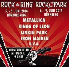 Rock am Ring 2014 Frühbucher-Tickets bis 15.12. für 189.- € (cts.de mit Gebühren 193,50 €)